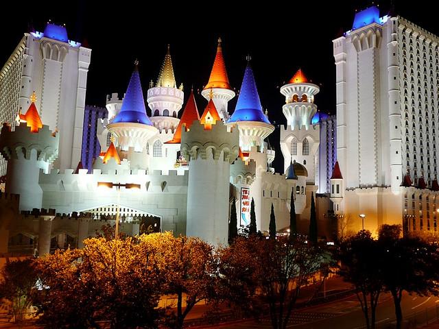 Localização do hotel Excalibur em Las Vegas