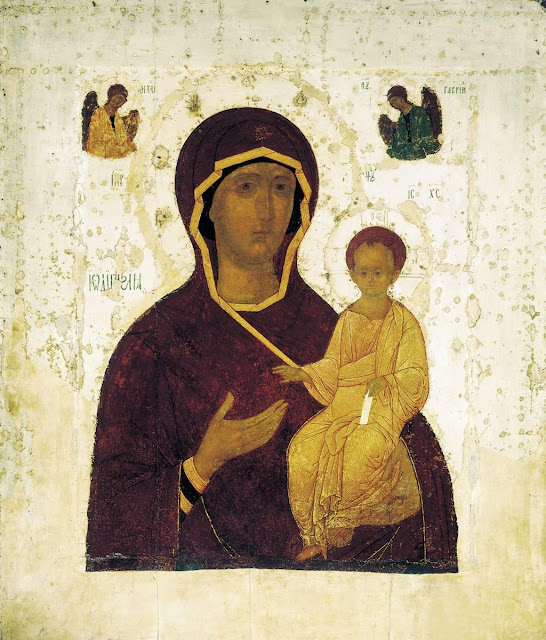 Antique Icon of the Theotokos of Smolensk by Dionisius