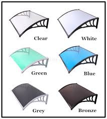 Polycarbonate Awnings Strong and Long time Use Best Use for Entrence Doors and Windows