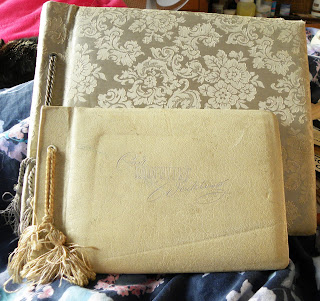 large and small vintage wedding album