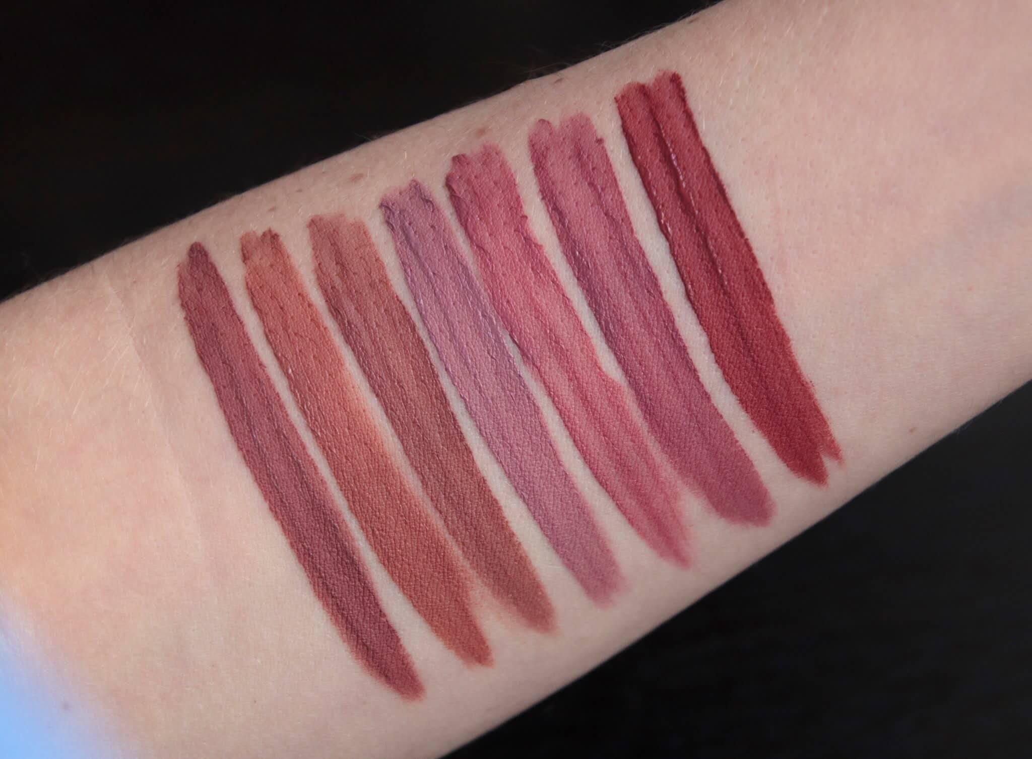 Bourjois Rouge Velvet Ink 19 20 21 22 23 24 25 swatch