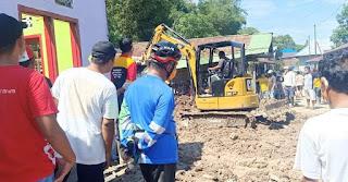 Peninjauan Penanganan Eks. Longsor di Wilayah RT. 17 Kelurahan Juata Permai