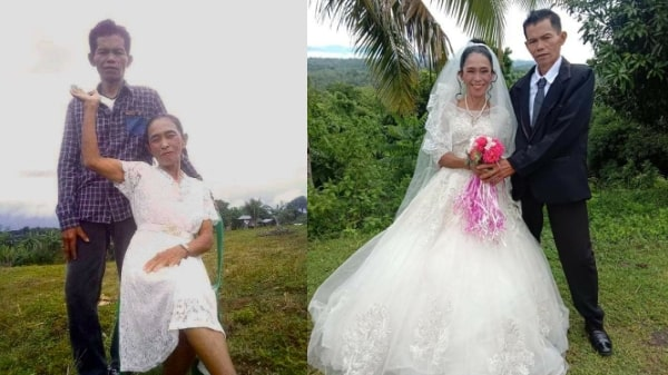 67-year-old woman finally finds love, marries 57-year-old man