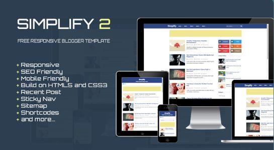 Premium Simplify 2 Responsive Blogger Templates