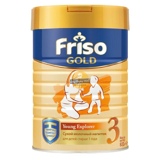 Sữa Friso Gold 3 hộp 800g dành cho bé từ 1 năm