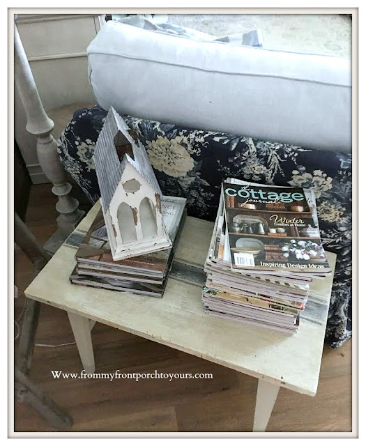 Living -room- Furniture & Decor- DIY-Table-Vignette-French-Farmhouse-From My Front Porch To Yours
