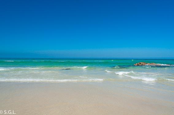 Mar cantabrico de la playa de las catedrales