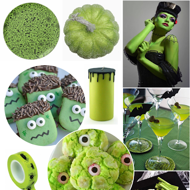 Green and Black Halloween Party Ideas