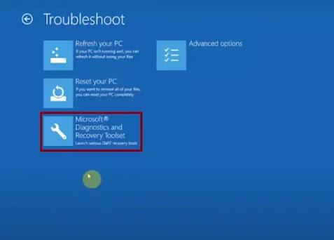 Microsoft Diagnostic tool