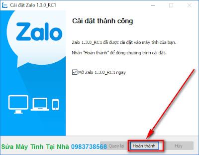 Cài đặt Zalo trong Windows