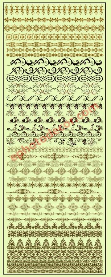 35 Floral Border decoration elements PNG