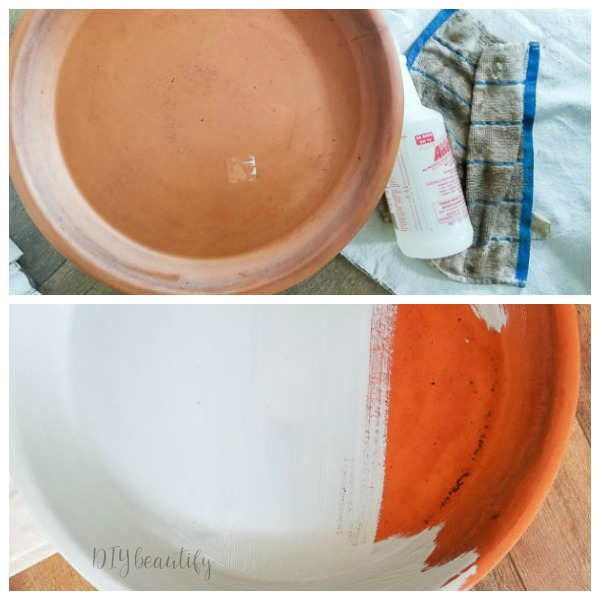 planter restored with Dixie Belle chalk paint