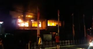 Kantor Bappeda Nias Terbakar, Warga Sekitar Sempat Heboh