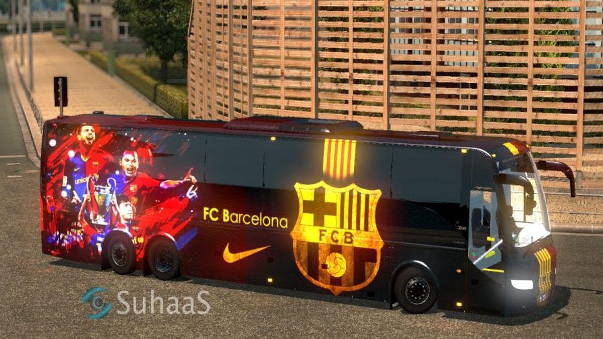 Volvo Bus FC Barcelona Skin