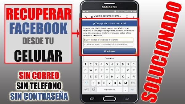¿Cómo recuperar una cuenta de Facebook sin el número de teléfono?