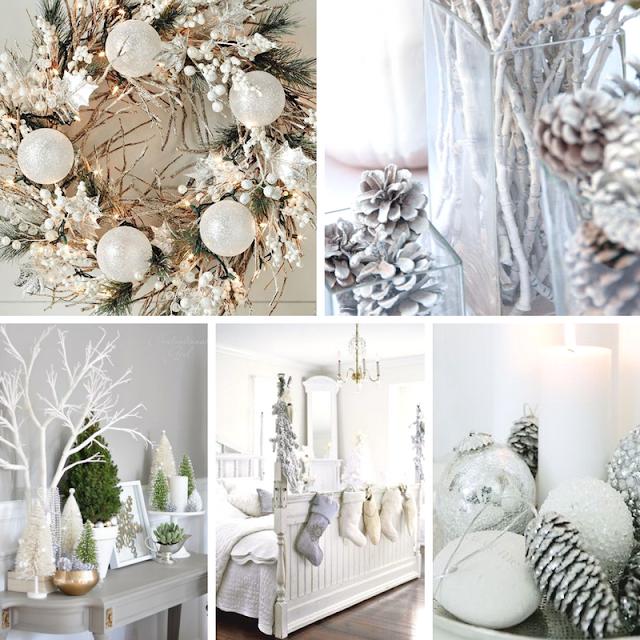 Decoração de Natal em Branco