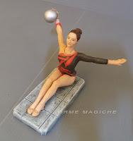 statuetta atleta ginnastica artistica ritmica ritratto personalizzato milano orme magiche