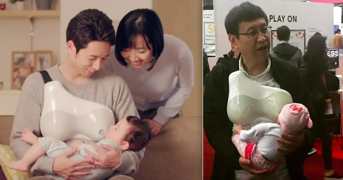 New Revolutionary Japanese Invention Allows Men To Breastfeed Their Babies