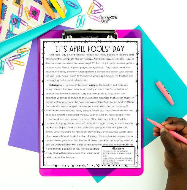 April Fools' Day Activities and Ideas for Upper Elementary