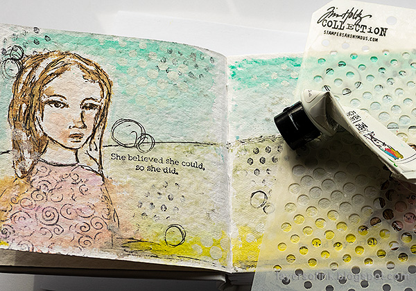 Layers of ink - Pastel Journal Page Tutorial by Anna-Karin Evaldsson.