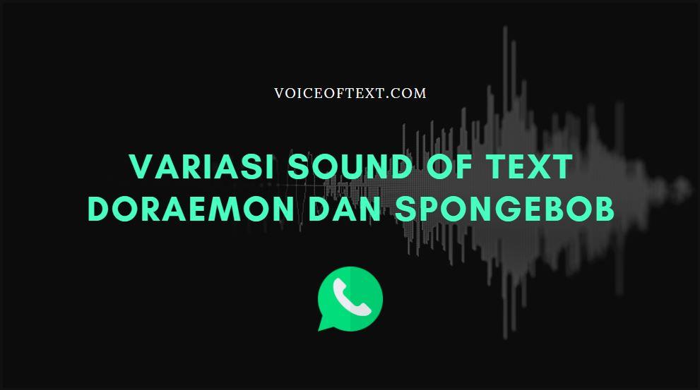 cara sound of text doraemon spongebob yang viral di TikTok