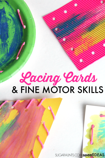 Use lacing cards to address fine motor skills with kids in the classroom, home, or therapy clinic.
