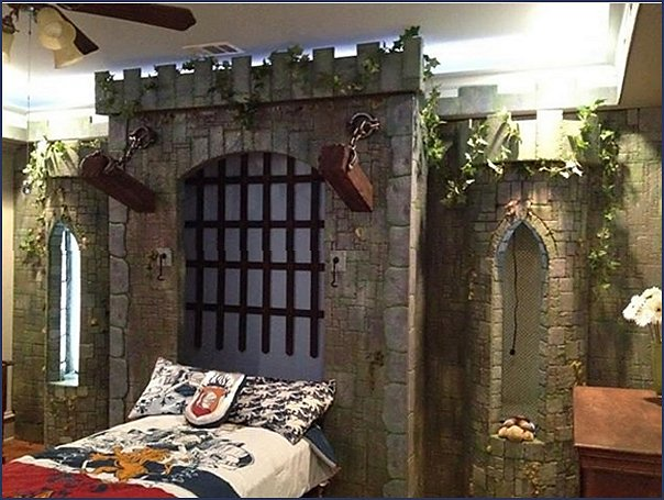 Knights in Shining Armor Castle  castle bed castle wall bed castle loft bed castle themed boys bed