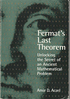 Close up of upper right of Pierre Fermat's face with many numbers running back and forth