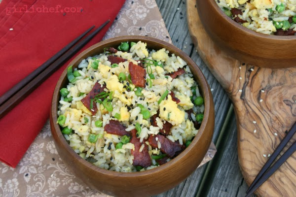 Duck Bacon Fried Rice {#EatingIndiana: Maple Leaf Farms} | www.girlichef.com