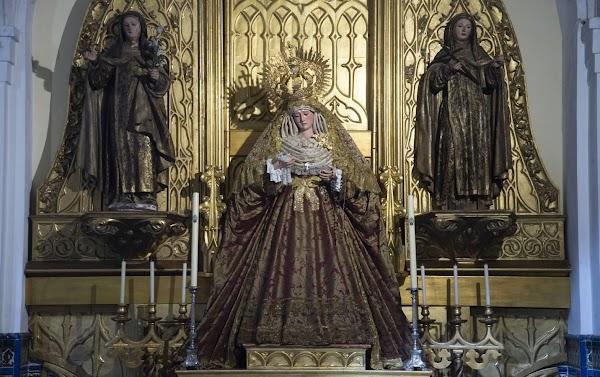 La Virgen de la Salud del Santo Ángel de Sevilla estrena nuevo traje