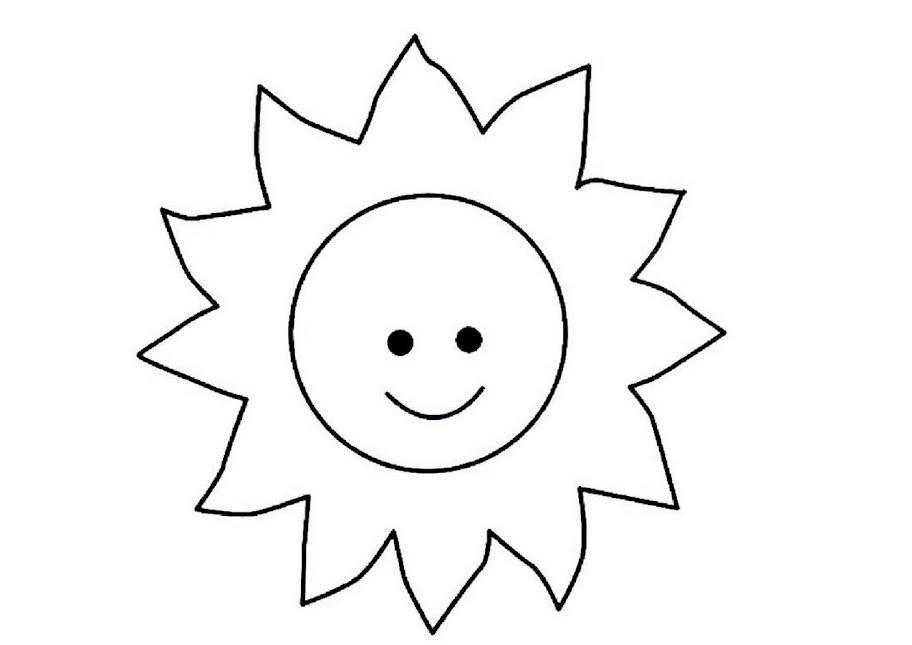 Dibujos De Sol Para Colorear E Imprimir: Desenho Do Sol Para Colorir