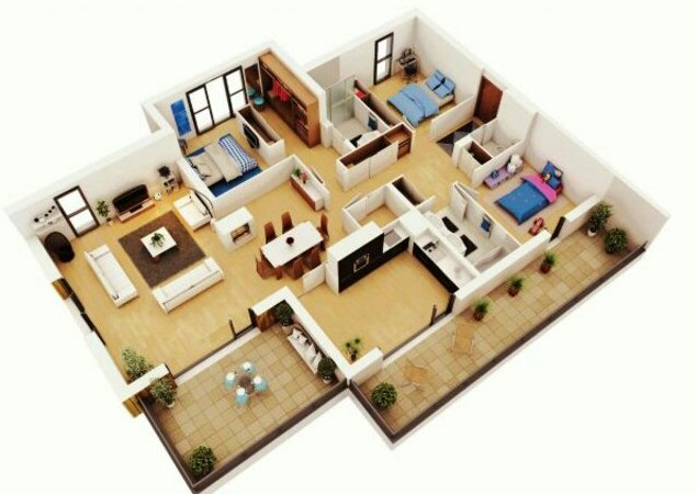 3 bedroom small house plans with pictures