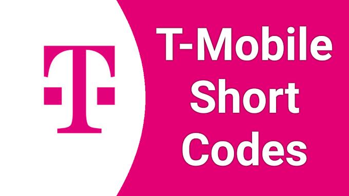 T-Mobile Short Code 2021