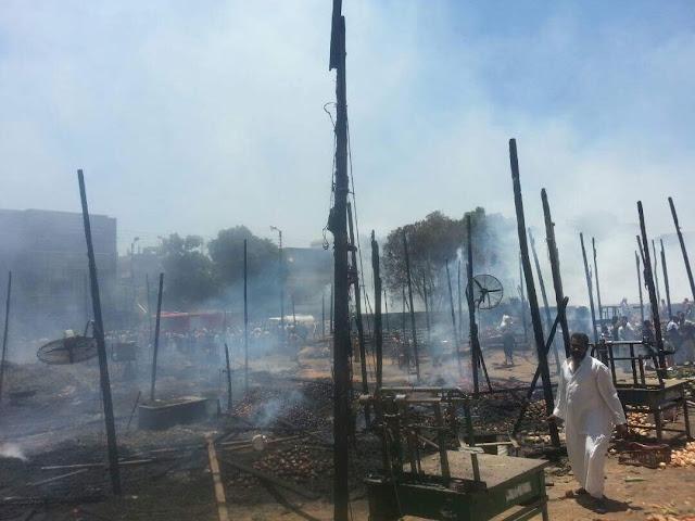 القوات المسلحة تسيطرعلى حريق إدفو بعد ارتفاع أعداد المصابين من المجندين وتدمير عشرات المنازل والمحلات