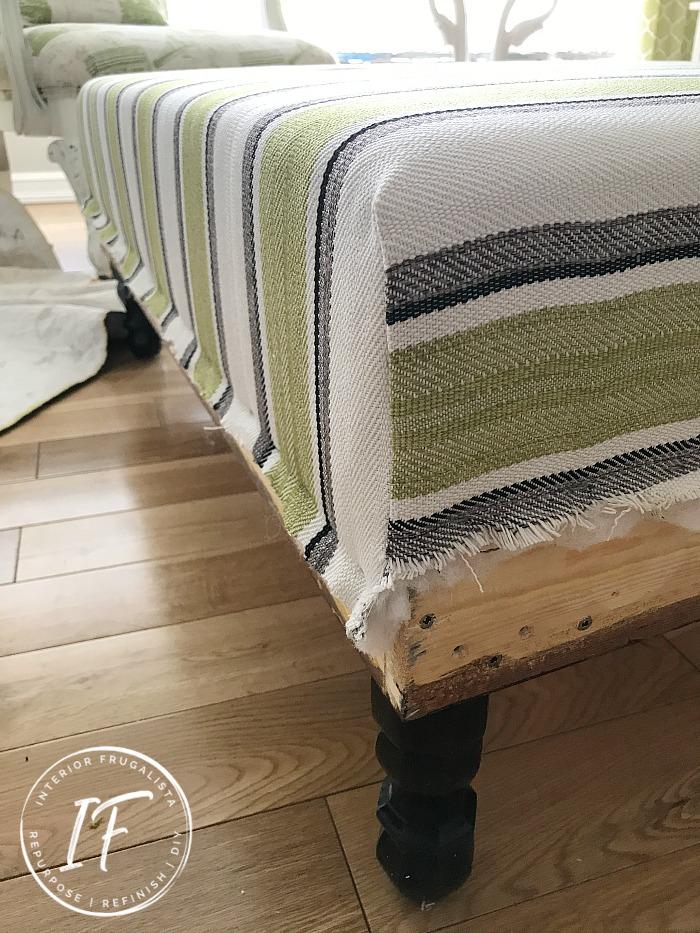 DIY Ottoman Upholstered