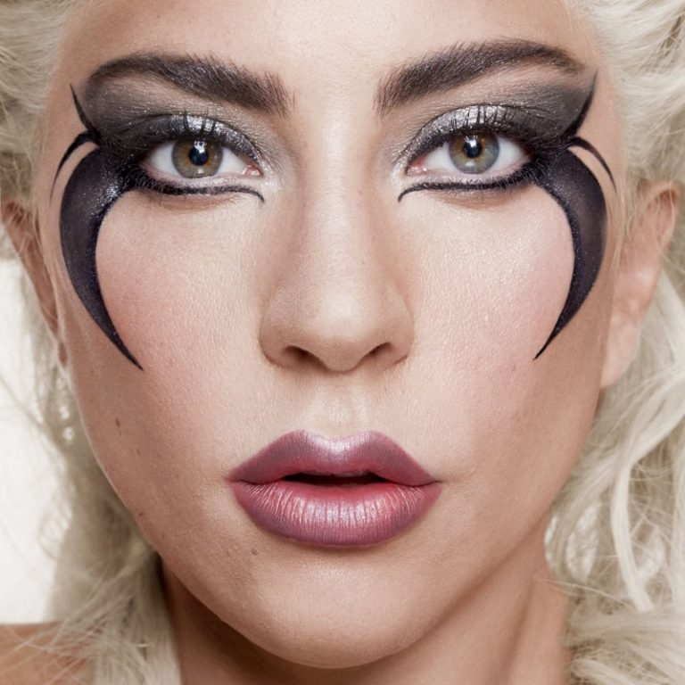 Lady Gaga shows off makeup look from Haus Laboratories. Photo: Hannah Khymych