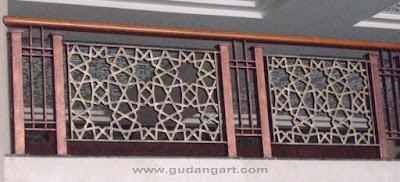 Railing Tangga Masjid Aluminium