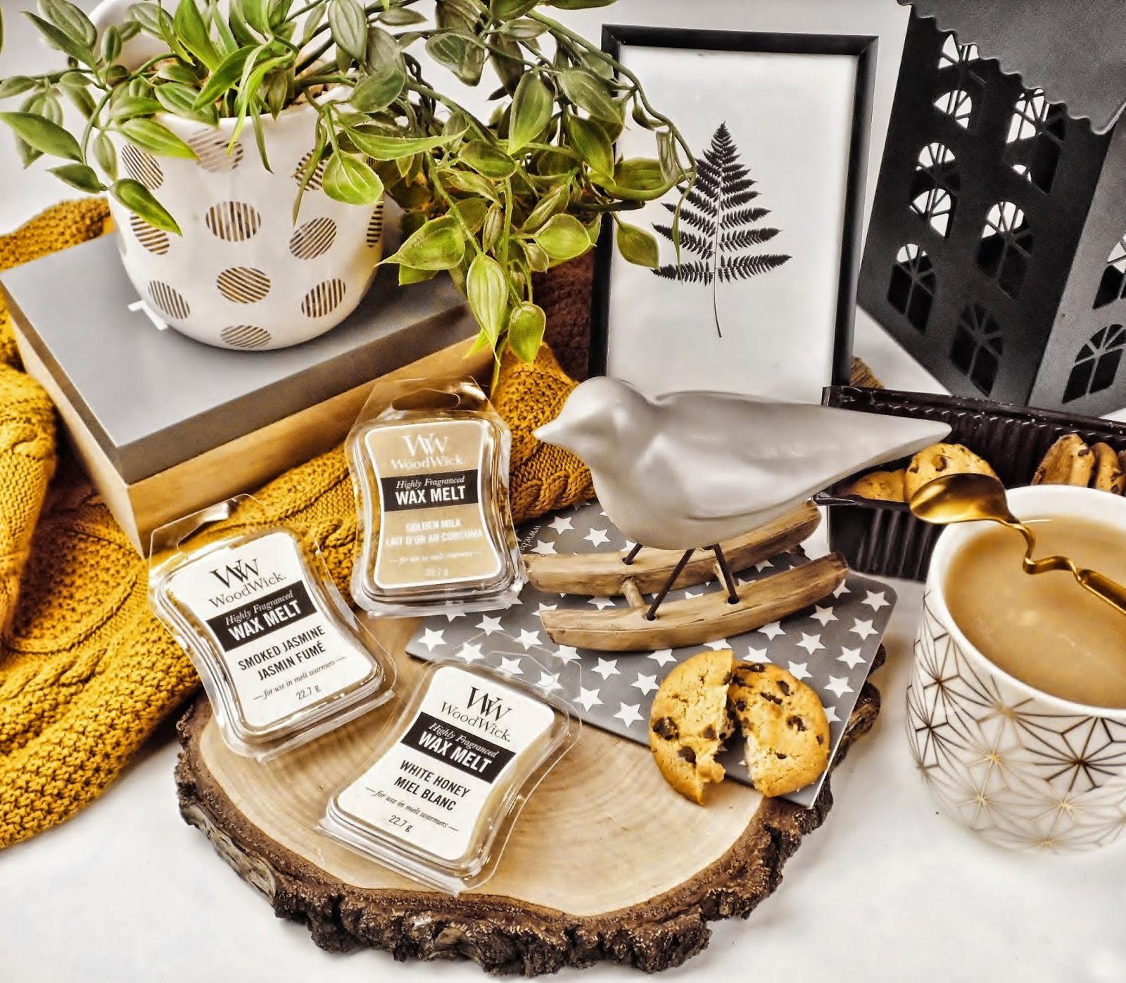 Recenzja na wielki powrót - Smoked Jasmine, White Honey oraz Gold Milk od Woodwick