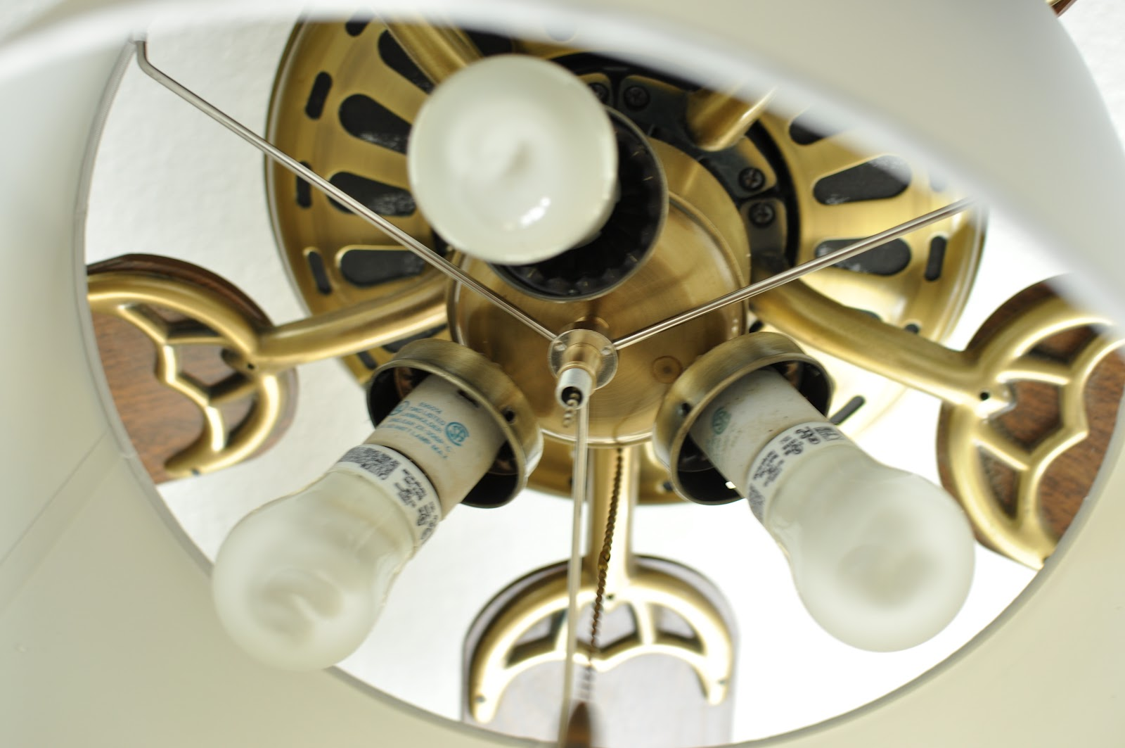 Domestic Fashionista: Lamp Shade Ceiling Fan