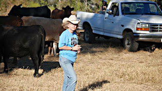 Cattle, Suna, and Ralph [with the truck]