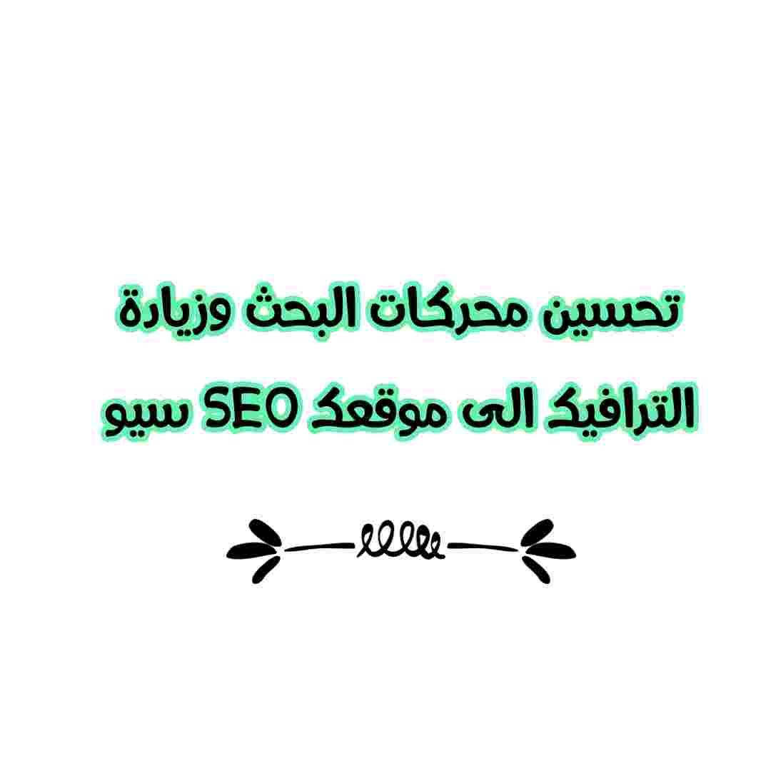 تحسين محركات البحث وزيادة الترافيك الى موقعك SEO سيو