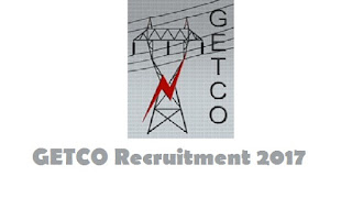 GETCO Recruitment 2017 @ www.getcogujarat.com