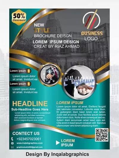 Brochure Design Vector ~ corel draw designs cdr files
