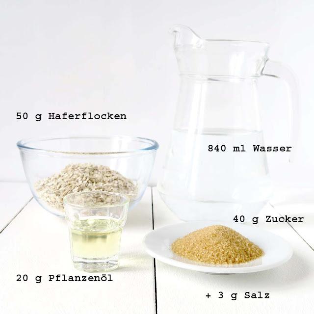 Zutaten für 1 Liter hausgemachten Haferdrink | pastasciutta.de