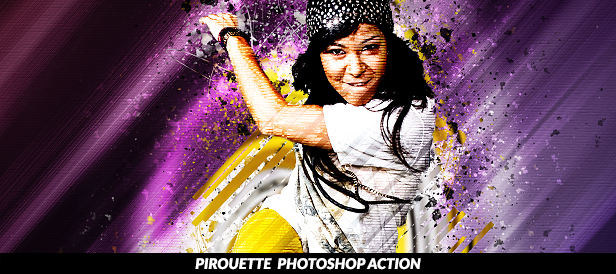 Pirouette Photoshop Action
