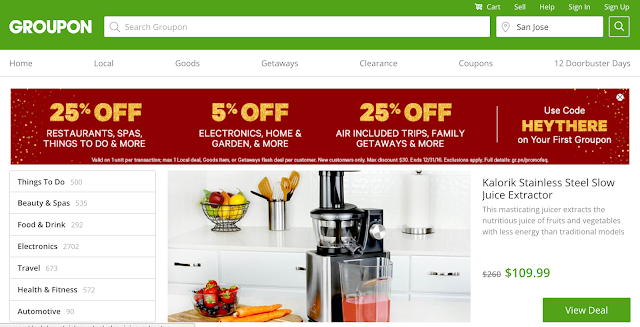 Groupon is best place to hunt local deals