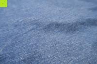 blauer Stoff: Lands' End - Baumwoll/Viskose-Shirt mit V-Ausschnitt