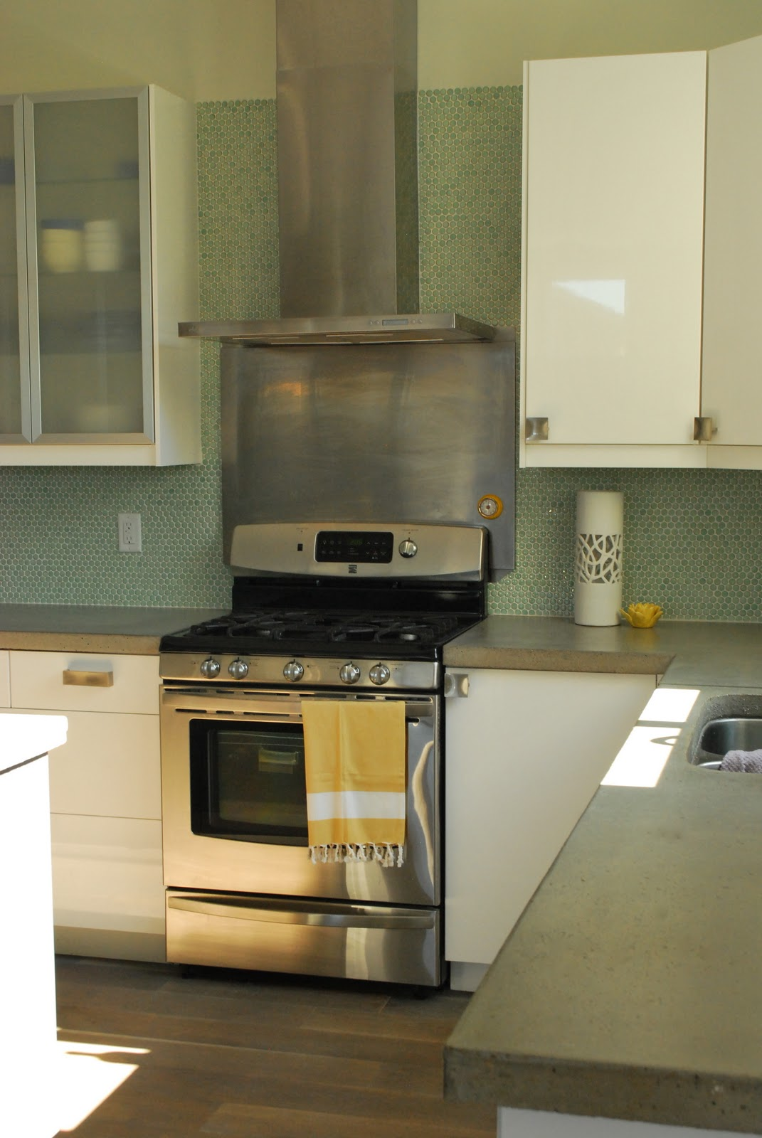 Penny Tile Backsplash Kitchen Green Furniture Feature Friday A Salt Box House Of Jade Interiors Blog