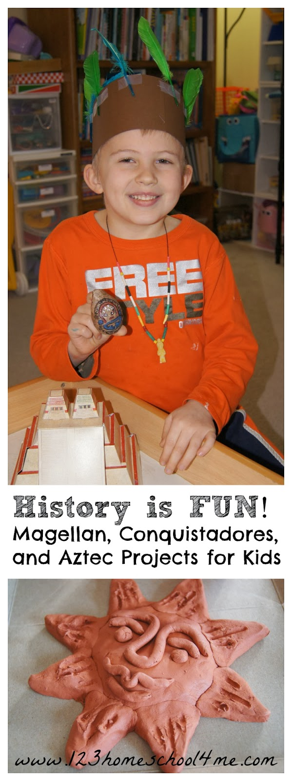 Homeschool History Lesson - Early Explorers Magellan, Conquistadors, and Aztec Projects for Kids