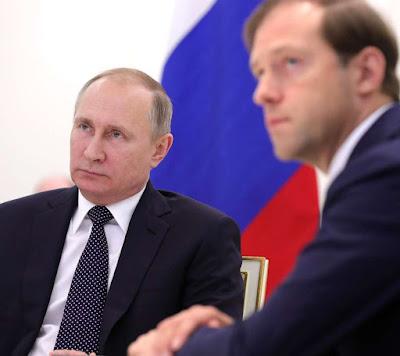 Vladimir Putin, Denis Manturov.